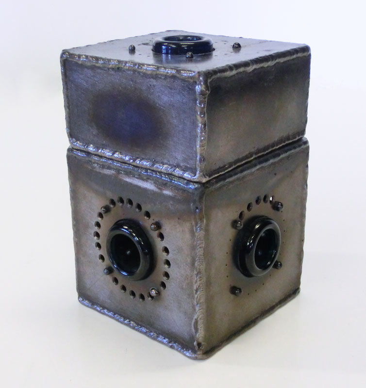 Fabricated Metal Object Sculpture Box Tim Carter