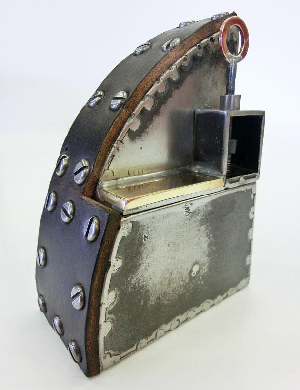Fabricated Metal Object Sculpture Spring Loaded Tim Carter