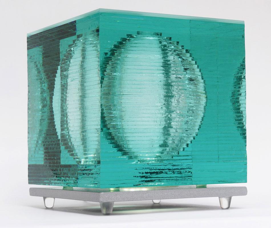 Glass Light Art Sculpture Sphere Tim Carter