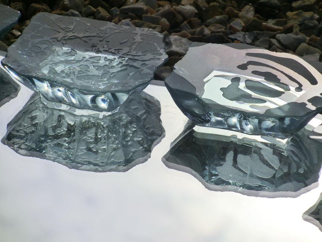 Mirror Sculptured Glass Etched Sandblasted Detail Tim Carter