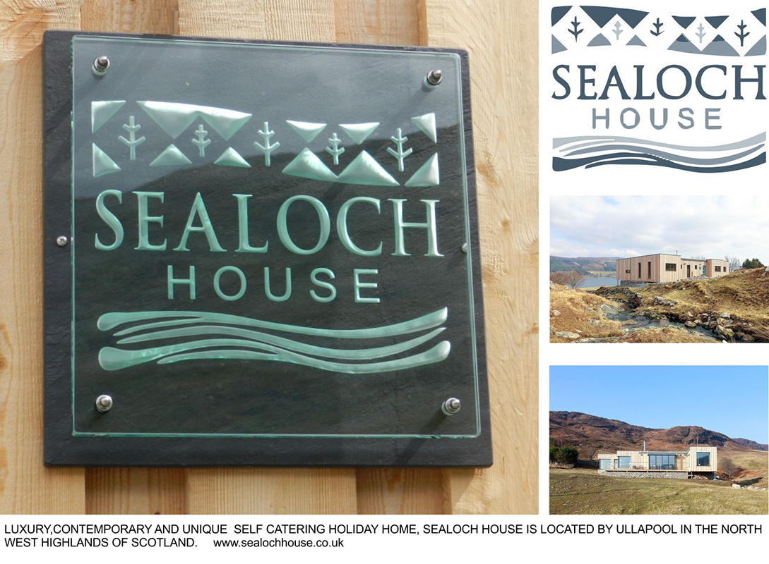 Engraved Glass Plaque Bespoke Sealoch House Tim Carter